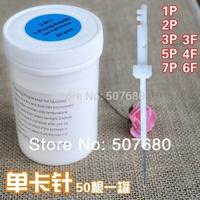 50x 1P Permanent Makeup Needles Sterilized  Pen Machine Eyebrow Needles 1R / 1-Prong Needle Disposable SN03
