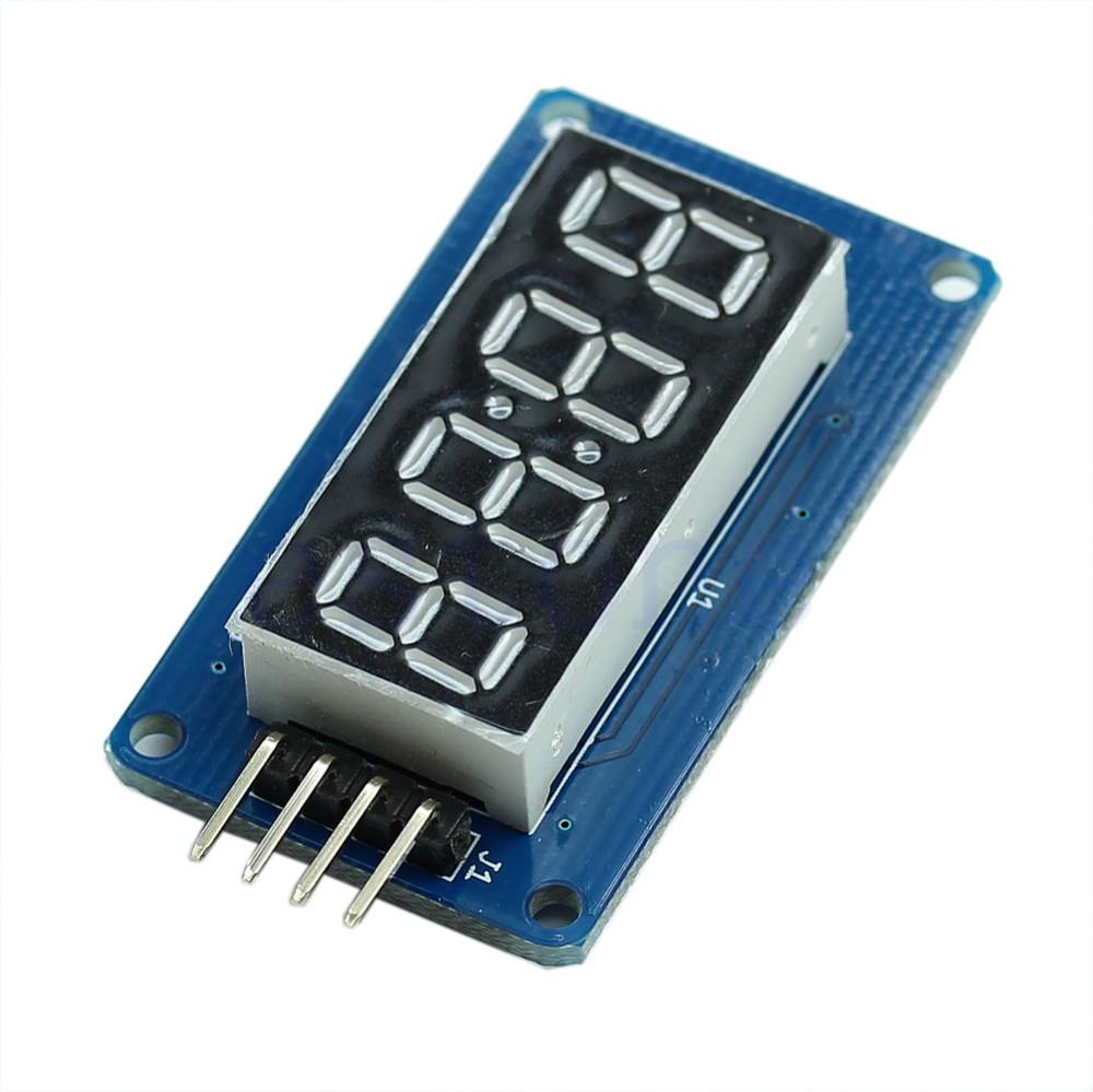 W110 4 Bits Digital Tube LED Display Module With Clock Display Board For Arduino DIY(China (Mainland))