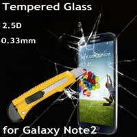 Explosion-Proof Premium Tempered Glass Screen Protector Film for Samsung Galaxy Note II N7100 Anti Shatter with Retail Box