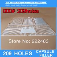 000# 209 Holes Capsule Filling Machine,Capsule Filling Board With Tamping Tool