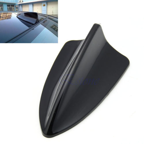 W110 New 1pc Universal Fit Car Shark Fin Dummy BMW Style Antenna LED Light Decoration Black(China (Mainland))