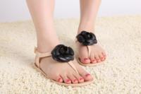 2014 new Women jelly sandals summer fashion  flat  flip-flop sandals plastic material sandals women's shoes
