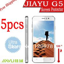 smartphone 5pcs JIAYU G5 screen protector.Brand LCD protective film for jiayu g5.free shipping screen film for jiayu g4 g4c s2