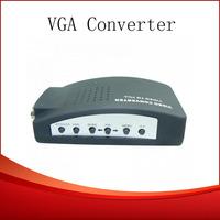 Wholesale AV/S Video To VGA TV CCTV BNC/RCA S-Video AV to VGA Converter Adapter Converter 10pcs/lot DHL Free Shipping