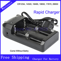 NaFu two Sections 26650 Battery Charger For High Special Double Universal Charger Free shipping