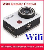 WDV5000 Extreme Sports DV HD 1080P Full HD Waterproof camera Underwater Action Sport CAM with WiFi IR Controller 10pcs/lot DHL