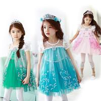 Retail + free shipping! New summer 2014. Girls cowboy dress . 100% cotton dress. Girls summer dress. Baby girls dress.