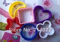 Freeshipping 6PCS/SET Food Grade Plastic Moon/Stars/Love/Plum/Round/Square Sandwich Bread Toast Rice&Vegetable Tool DIY 020109
