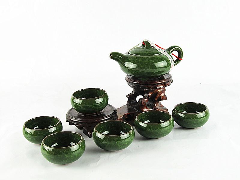 Good quality Calvings glaze tea set china teapot ceramic purple kung fu tea teapot cup
