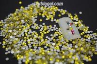 1480pcs/pack SS6 yellow 2mm High Shine Crystal  COLORFUL Nail Art Rhinestones diamond high quality Gross Diamond nail