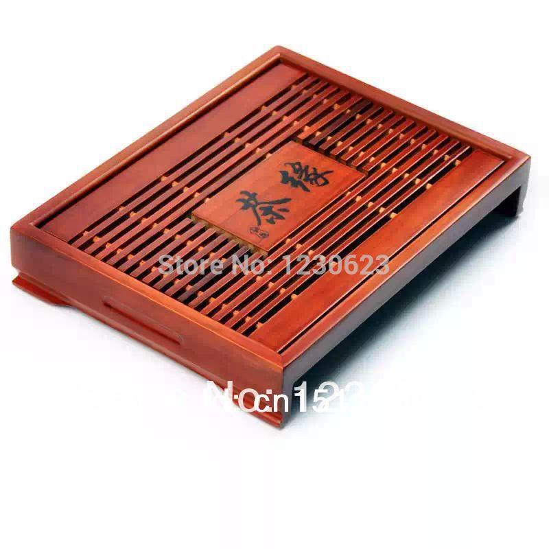 Free Shipping Hot Sale! Free Shipping Coffee & Tea Sets Solid Wood Tea Tray Chinese Kung Fu Tea Set High Quality(China (Mainland))