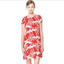 wholesale swan print dress