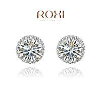 Wholesale ROXI Fashion Accessories Jewelry Austria Crystal Full CZ Diamond  Stud Earrings for Women