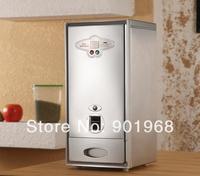 Home kitchen ware stainless steel mini 8kgs automatic rice storage bin-rice bin-rice bucket