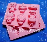 New Style (1pc/lot) 6 Cartoon Silicone Cake Mold Spongebob Altman Shape Chocolate Mold Handmade Soap Mold  Ice Cube Baking Tool