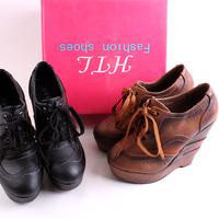 Free shipping Fashion tiangao wedges single shoes fashion lacing boots elegant high-heeled shoes platform shoes