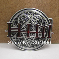 Fashion HIM belt buckle with pewter finish FP-02210 suitable for 4cm wideth belts with continous stock free shipping