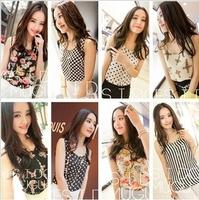 Hot Sale Dropshipping New 2015 Fashion Summer Women's Clothes Chiffon Sleeveless Causal Chiffon blouse Sundress 8 colors S-XXXL