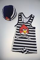 Wholesale 2-6Y 2014 Cartoon Strips Bikini Children Baby Girls Beach Wear One Piece Children Swimwear Baby Girls Swimsuit