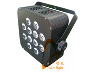 Free Shipping Factory Directly Sale 12*10W RGBW 4 in1 LED Slim Par Light, LED Flat Par
