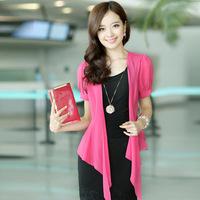 2014 summer new women's fashion Korean version of Slim short-sleeved two-piece chiffon dress skirt