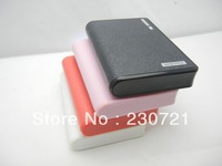 20pcs Fashion Wallet power bank 12000mah With LED Lighting Power Bank External Battery Pack with retail box DHL Free shipping