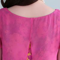 2014 summer new women's fashion Korean short-sleeved floral chiffon shirt blouse batch transmission Necklace