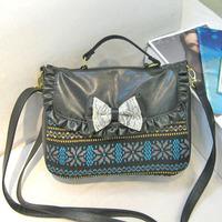 women Liz lisa tralala ingni bow messenger bags