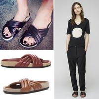 2014 women's shoes sandals women's slippers summer cross belt sandals flat genuine leather fashion