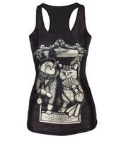 best quality V-43 Free Shipping summer new 2014 women t shirt 3D cat Vest Sexy  vest
