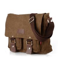 2014 New Men Casual Messenger Bags Vintage Canvas Shoulder Bags For Men Fashion Wholesale Men bag