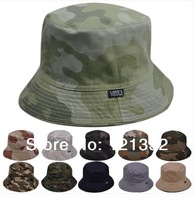 Hat summer hat men's hiking outdoor sun hat lady hat Korean version of the double-sided camouflage pots