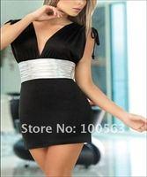A clearance Free shipping sexy dress summer dress women black S93
