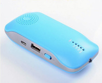 Wireless bluetooth mini Speaker Power bank speaker with mic led light for mobile phones Iphone Ipad Samsung