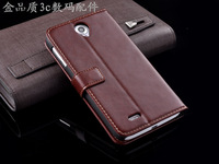 2014 New arrival! With Stand Holder Luxury flip leather Wallet Case For Lenovo a850+Card Slot Free shipping