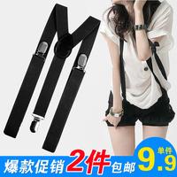 Suspenders accessories male women's spaghetti strap suspenders trousers bib pants clip pants ar3 116