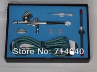 Factory price 0.2+0.3+0.5mm 3 in 1 Airbrush Set,  Air Brush Spray Gun, kit for Art Painting