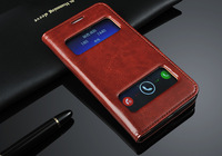 2014 New arrival! With Stand Holder Luxury flip leather Wallet case  For  HUAWEI Honor 3x g750+Card Slot Free shipping