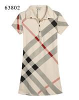 Free Shipping Classics Women Cotton Plaid Turn-down Collar British Style Dress,Brand Designer Summer Straight Check Dresses #42a