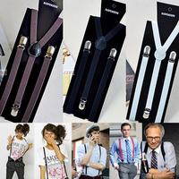 Denim general 1.5 suspenders clip male women's bib pants suspenders