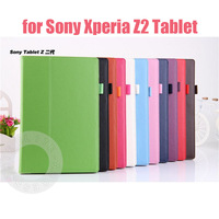 "Newest Magnetic Stand PU Leather Case for Sony Xperia Tablet Z2 10.1"" with Pen Holder, 100Pcs/Lot DHL Free Shipping"