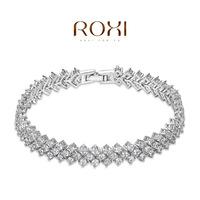 Wholesale ROXI Fashion Accessorie Jewelry CZ Diamond Clear Austria Crystal with SWA Element Snow Flower Bracelet for Women