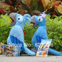 Blue Macaw Rio de Janiero Male & Female Pair Couple Set Plush Doll Blu & Jewel-2 pcs/set-9''