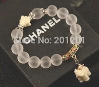 New ! 2014 Fashion jewelry silver plated white crystal scrub bracelet 8873 for elegant Women Christmas gift Free Shipping