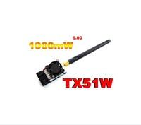 Free shipping Boscam 5.8Ghz 1000MW TX51W AV wireless Transmitter 5705-5945Mhz longer range with FPV /OSD