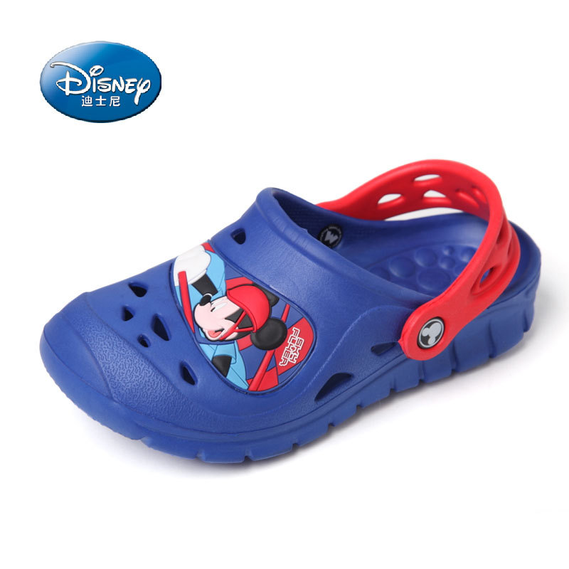 NUSKIN Mickey Toddler EVA Fashion Hollow Out Breathable Children Shoes Hole Sandal Boy Girl Slippers Kids Beach Shoe size 27-34(China (Mainland))