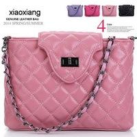 Xiaoxiang Guaranteed 100% sheepskin leather shoulder bags Women Handbags designers brand black chain bag genuine leather handbag