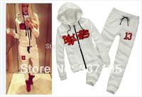 new 2014 tracksuit for women Black Star Timati white woman's sweatshirt women hoody harem pants one set sportswear