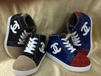 Retail 2014 new fashion spring autumn  baby unisex  ankle-wrap lace-up embossed cotton fabric plaid leisure sandals  shoes
