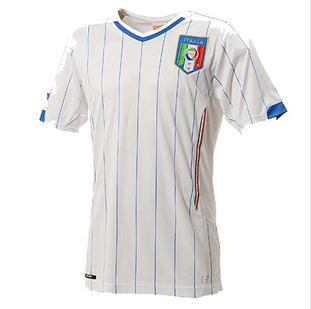 Top thai quality 2014 wholesale Italy custom soccer jersey away white color,Free Shipping Italy Sports clothing Football shirts(China (Mainland))
